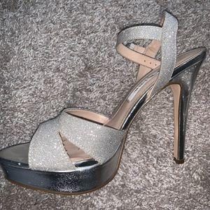 US Size 7.5 Beautiful Silver High Heels
